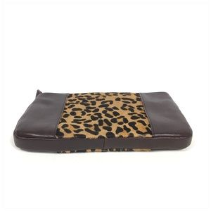 ANTONIO MELANI Bags - Antonio Melani Leather Calf Hair Brown Clutch